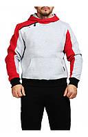 Мужская толстовка серая с красным