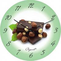 Часы настенные из стекла - шоколад(немецкий механизм)