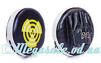 Лапа прямая круглая боксерская RIV 3301: кожа, 27x6см
