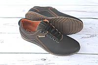 Мужские туфли комфорт, черно-коричневые