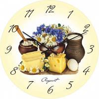 Часы настенные из стекла - натюрморт(немецкий механизм)
