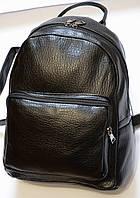 Женский кожаный рюкзак черный RS, фото 1