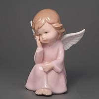 """Фарфоровые статуэтки """"Задумчивый ангел"""" оригинальные сувениры к 14 февраля"""