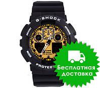 Часы Casio G-Shock GA-100 Black Gold