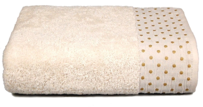 Махровое полотенце AMBER 70×130 кремовое 450г/м2