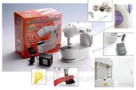 Мини швейная машинка 4 в 1 + педаль маленькая ручная портативная