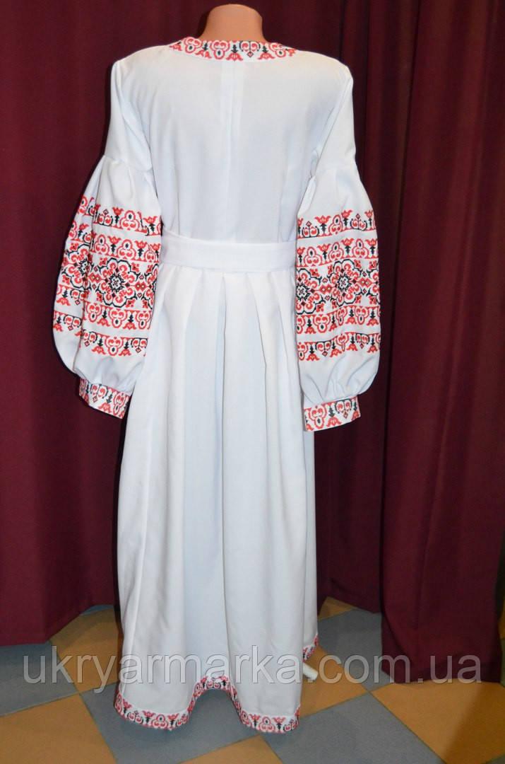 Вишита жіноча сукня з ажурною вишивкою та поясом. Сучасний покрій та  оригінальність 3b6f5f43b38e6