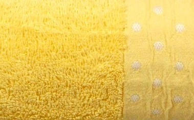 Махровое полотенце AMBER 70×130 жёлтое 450г/м2, фото 2