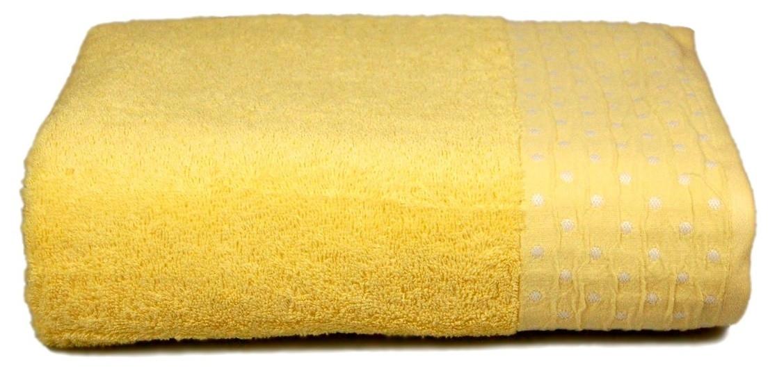 Махровое полотенце AMBER 70×130 жёлтое 450г/м2