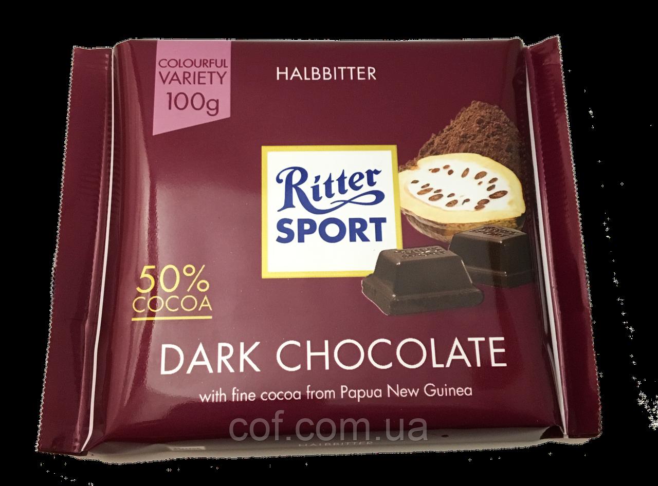 Шоколад черный Ritter Sport Dark Chocolate 100г (Германия)