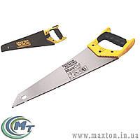 Ножовка столярная 400 мм, 7TPI MAX CUT, каленый зуб, 3-D заточка, полированная с чехлом MasterTool