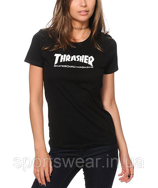 "Футболка Thrasher Skate Mag Logo женская  | Трешер Футболка """" В стиле Thrasher """""