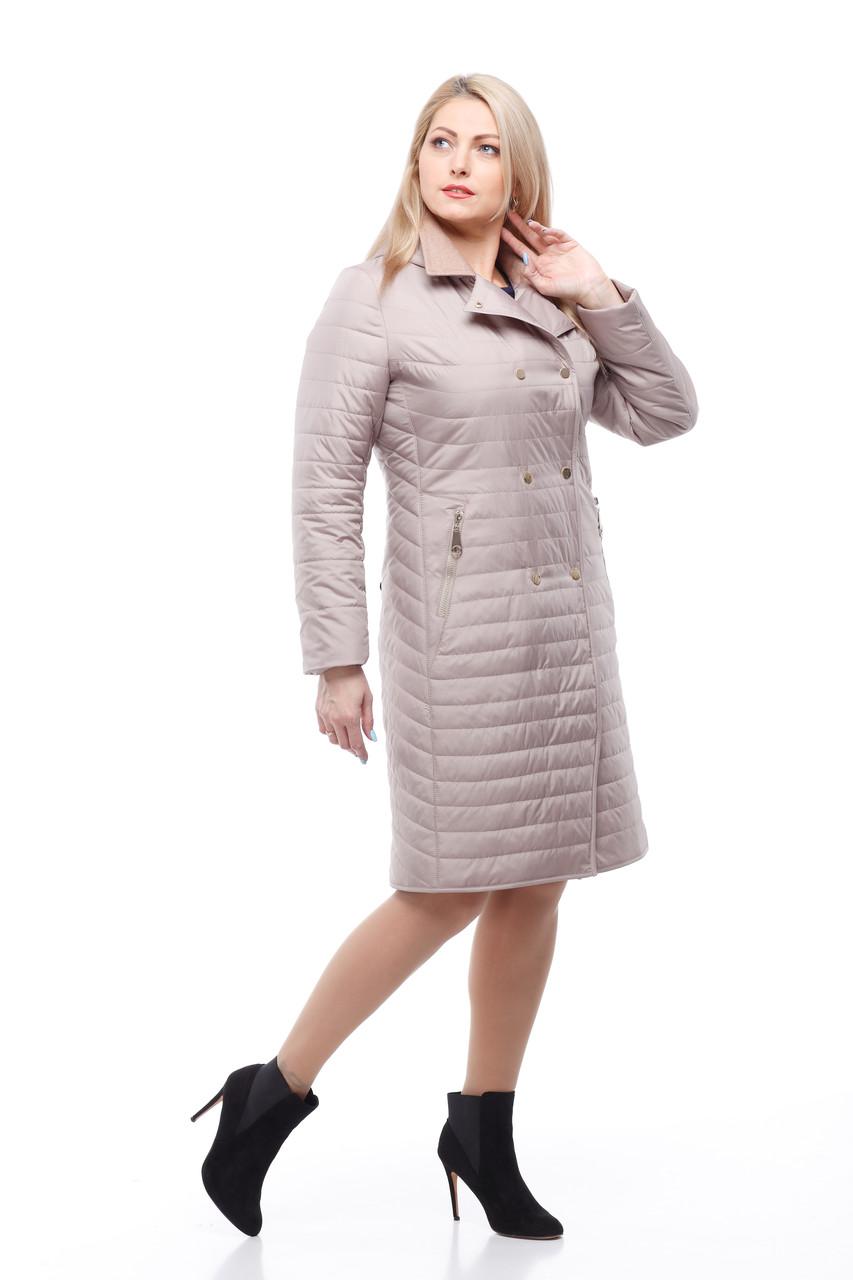 Женское пальто куртка стеганное на весну осень размер 44-54 разных цветов -  Интернет 752042934b6be