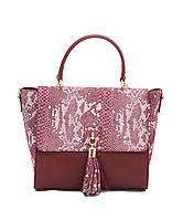 Женская  сумка из натуральной кожи фабричная (отшита  в Италии) комбинированного цвета, на одну ручку