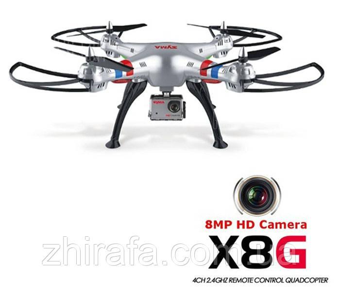SYMA X8G квадрокоптер 2.4G 6 осевой гироскоп камера 3d флипы