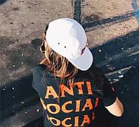 Футболка женская Paranoid Anti Social social club   Бирки   женская Футболка АССК Параноид