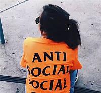 Футболка с принтом Undefeated Paranoid  Anti Social social club