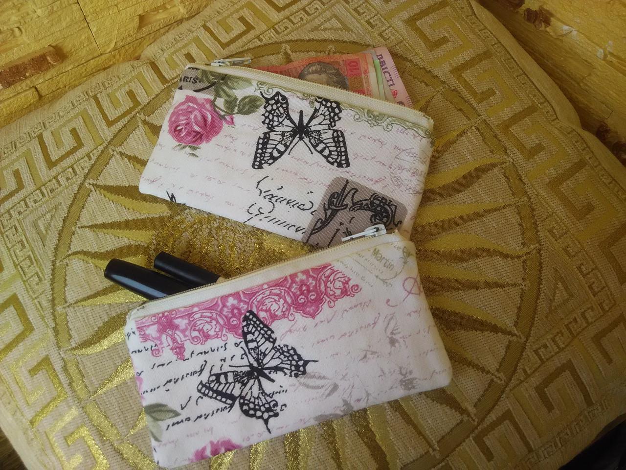"Кошелек-косметичка ""Розовые бабочки"""