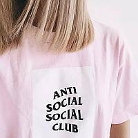 Футболка с принтом Anti Social social club женская Mix of New