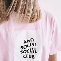 Футболка Anti Social social club женская Mix of New |Бирки | Футболка АССК