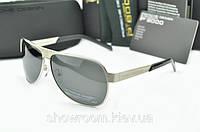 Солнцезащитные очки Porsche Design c поляризацией (p-8496) серебрянная оправа, фото 1