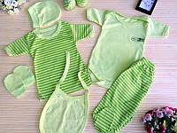 Подарочный набор для новорожденных 7 предметов  салатовый Склад 2