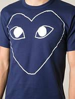 Футболка мужская с принтом COMME DES GARCONS PLAY Heart Logo