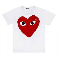 Футболка с принтом Comme des Garcons Original Heart Logo мужская