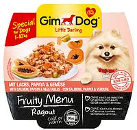 GimDog Little Darling Fruity Menu (консерва) Рагу из лосося, папайи и овощей 100 г*8шт