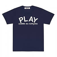 Футболка с принтом Comme des Garcons Play Logo Classic мужская