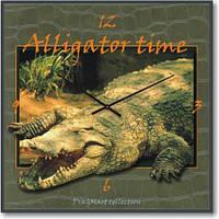 Часы настенные из стекла - Alligator time (немецкий механизм)