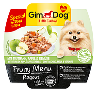 GimDog Little Darling Fruity Menu (консерва) Рагу из индейки, яблок и овощей 100 г*8шт
