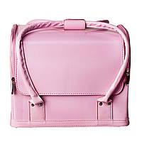 Бьюти-кейс. сумка для мастеров индустрии красоты. Цвет - светло-розовый матовый. Размеры 30х26х23, фото 1