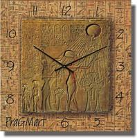 Часы настенные из стекла - Египетская фреска (немецкий механизм)