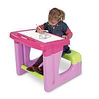 Парта детская для рисования с двухсторонней доской розовая Smoby 28061R