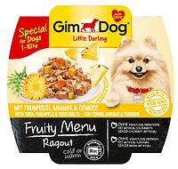 GimDog Little Darling Fruity Menu (консерва) Рагу из тунца, ананаса и овощей 100 г*8шт