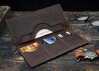 """Портмоне гаманець клатч шкіряний гаманець """"Оld"""" ручної роботи, фото 1"""