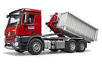 Машинка грузовик со съемным кузовом и откидным бортом Mercedes Benz Arocs Bruder 03622