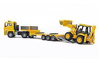 Набор строительной техники MAN: тягач с прицепом и экскаватором Bruder 02776