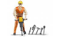 Фигурка строителя с инструментами Bruder 60020