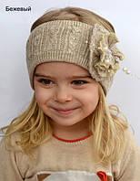 Вязанная повязка на голову, фото 1