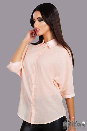 А147 Рубашка женская на заклепках, фото 2