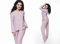 """Стильная женская пижама в больших размерах """"Пуговицы"""" в расцветках (NY-986)"""