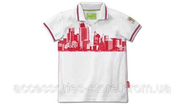 Детская рубашка поло Audi Kids' polo shirt, white