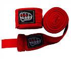 Бинты боксерские Firepower FPHW4 Cotton 4,5м Красные, фото 2