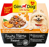 GimDog Little Darling Fruity Menu (консерва) Рагу из кусочков ягненка, абрикоса и овощей  100 г*8шт