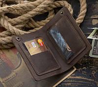 """Портмоне гаманець клатч шкіряний гаманець """"S"""" ручної роботи, натуральна шкіра, на кнопках, фото 1"""