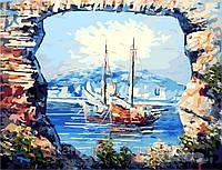 "Картина по номерам. Турция, Кемер. ""Яхты на рейде"", 40х50см, G298, фото 1"
