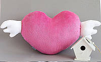 Подушка Сердце малиновое HANDMADE