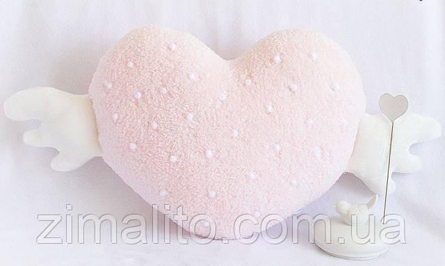 Подушка Сердце розовое HANDMADE